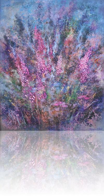 Цветы Черногории. 2012 Холст, масло 100Х80