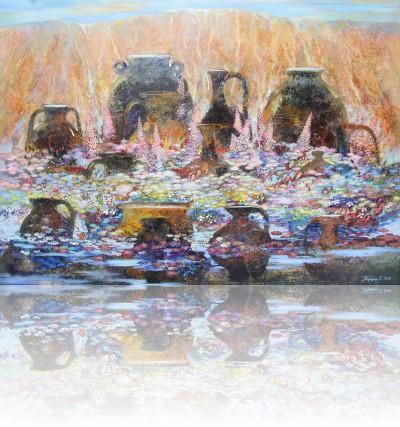 Чистая вода. 2012 Холст, масло 100Х140