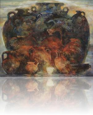 Белая чашка. 140 x 170 холст, масло 2012