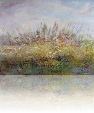 Утро.Цветы. 130 x 190 холст, масло 2011