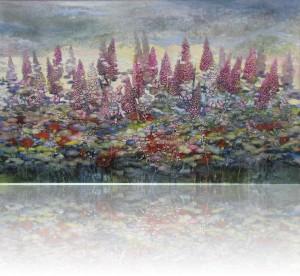 Утро.Цветы. 80 x 130 холст, масло 2010