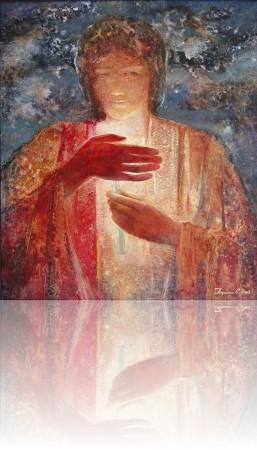Человек со свечой. 60 x 70 холст, масло 2003