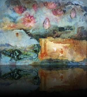 В стране лотосов. 74 x 100 холст, масло 1997