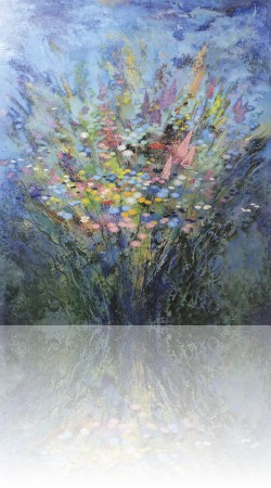 Вечерний букет. 120 x 100 холст, масло 2008
