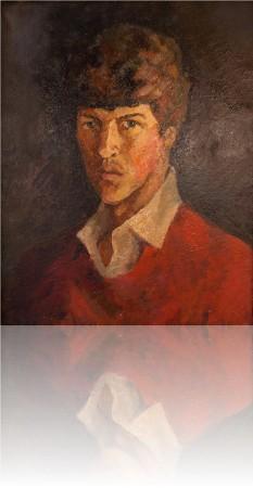 Автопортрет. 50 x 40 холст, масло 1980