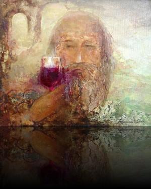 Вкус настоящего вина. 25 x 30 холст, масло 2004