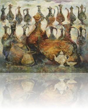 Узбекистан. Кувшины.140 x 170 холст, масло 2011
