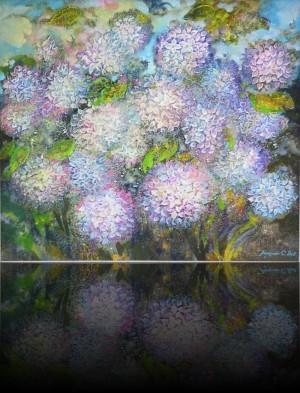 Гортензия. 70 x 80 холст, масло 2011
