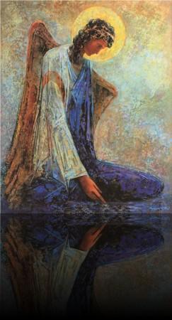 Уставший ангел.104 x 84 холст, масло 2007