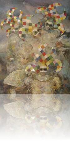 Венецианские тайны. 140 x 105 холст, масло 2000