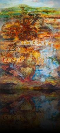 Эхо прошедших эпох. 190 x 130 холст, масло 2009