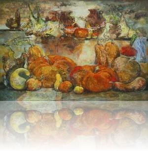 Крестьянский натюрморт. 130 x 190 холст, масло 2011