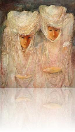 Венеция двое. 70 x 60 холст, масло 2004