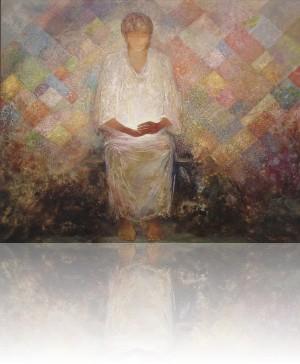 Лоскутное одеяло. 81 x 100 холст, масло 1995