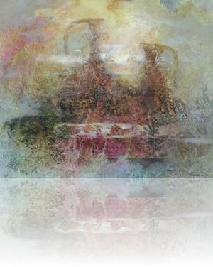Натюрморт со львом. 77 x 92 холст, масло 1994