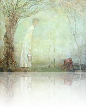 Новый сад. 25 x 30 холст, масло 2004