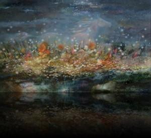 Ночь.Бег. 110 x 180 холст, масло 2003
