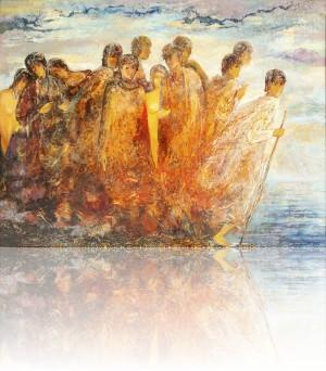 Путешественники. 80 x 105 холст, масло 2012