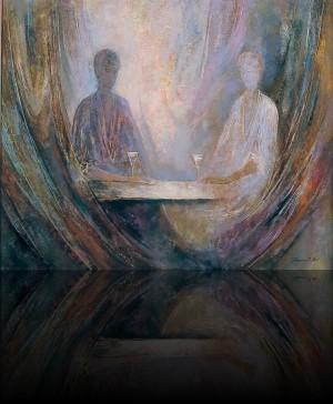 Разговор. 160 x 130 холст, масло 2001