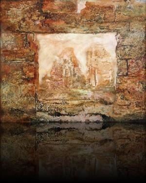 Аргентина.Старые стены. 77 x 92 холст, масло 2002