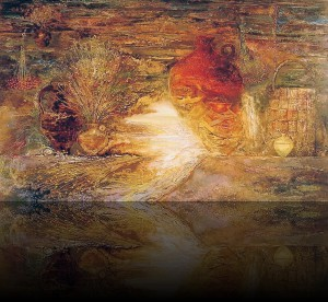 Русский натюрморт. 80 x 130 холст, масло 1999