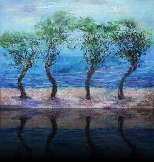 Деревья. 70 x 100 холст, масло 2012