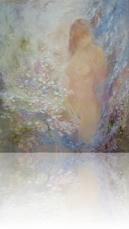 Утро воды. 105 x 89 холст, масло 2003