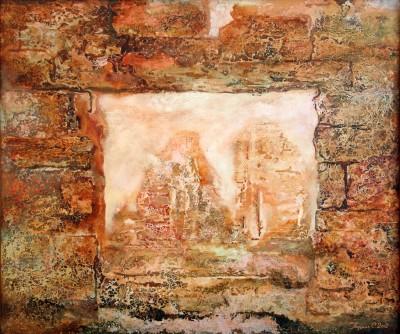 Аргентина. Старые стены 2002 Холст, масло 77Х92