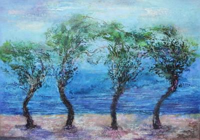 Деревья. 2012 Холст, масло 70Х100