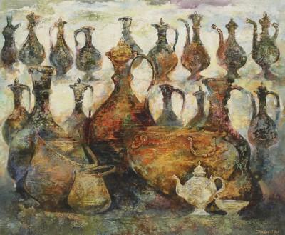 Узбекистан.Кувшины. 2011 Холст, масло 140Х170