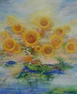 Цветы солнца. 220 x 180 холст, масло 2003