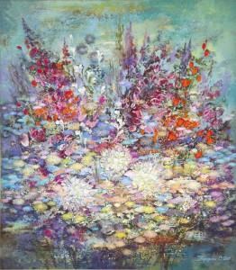Цветы Черногории. 80 x 70 холст, масло 2011