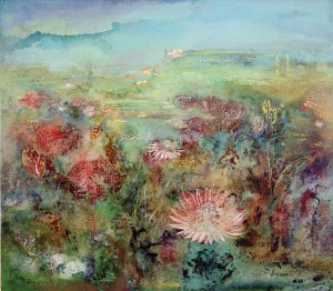 Весна в Кейптауне. 80 x 70 холст, масло 1997