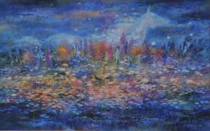 Ночь. 100 x 160 холст, масло 2008