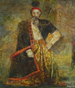 Воин. 140 x 120 холст, масло 1989