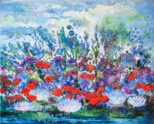 Цветы для Андрея. 80 x 100  2012