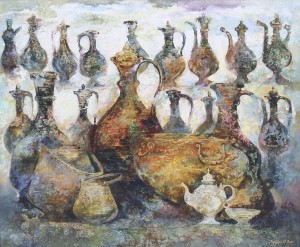 Кувшины.Узбекистан. 140 x 170 холст, масло 2011