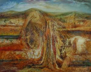 Курган. 73 x 92 холст, масло 2000