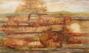 Курганы. 120 x 200 холст, масло 2003