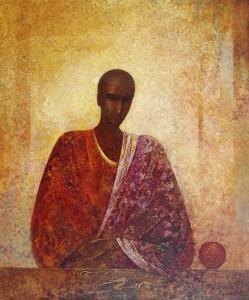 Незнакомец. 65 x 54 холст, масло 1992