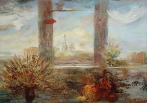 Окна родного города. 130 x 185 холст, масло 1997