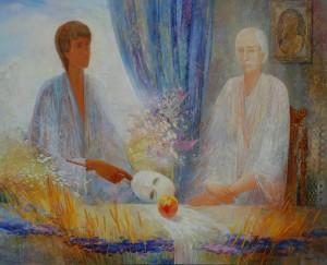 Разговор. 160 x 130 холст, масло 2003