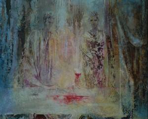 Разлитое вино. 65 x 81 холст, масло 1995