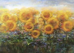 Семечко. 130 x 180 холст, масло 2008