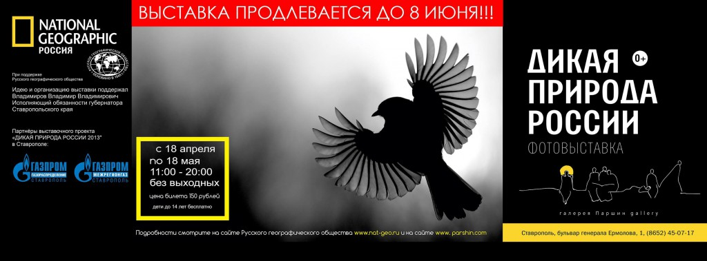 "Photo-exhibition of National Geographic magazine ""wild Russia 2013"""